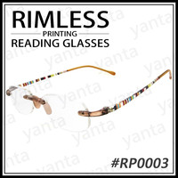 [Yanta] 2015 HOT SALE High quality - TR 90 - Rimless Printing Reading Eyewear Glasses Optical Frame