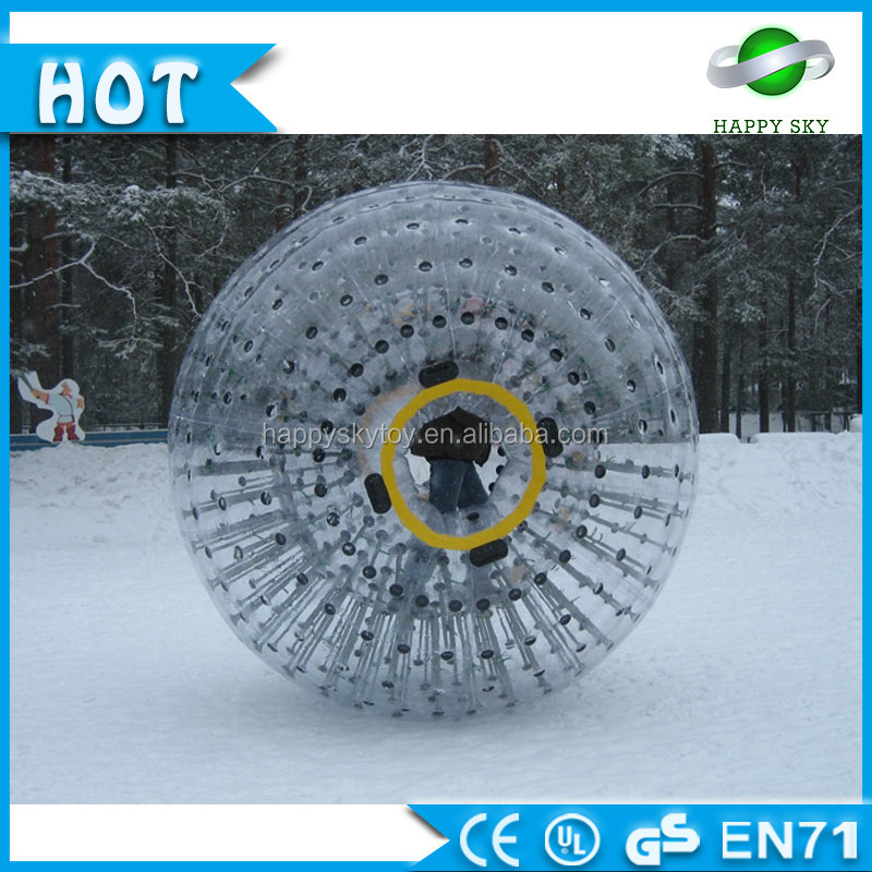 High quality 0.8mm PVC Dia 3m human zorbing uk , giant inflatable snow zorb ball, human hamster ball for sale