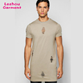 Extra long t-shrit, men slim fit distressed t shirts