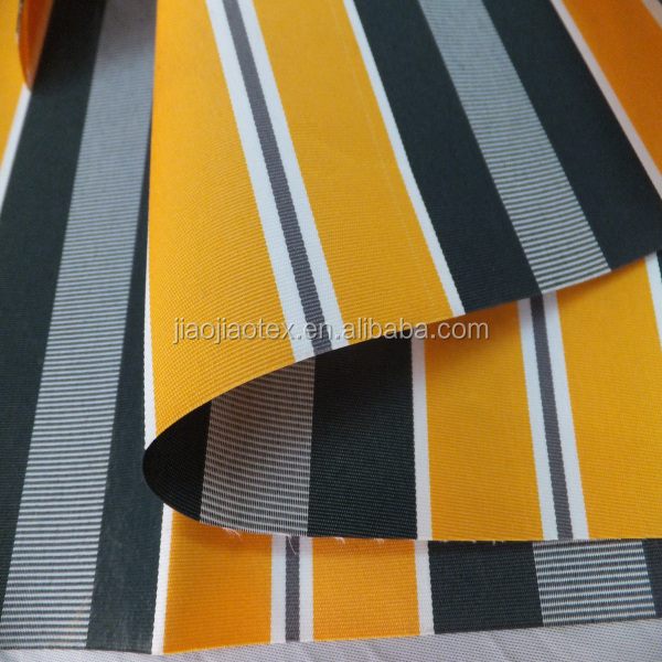 Polyester spun yarn solution dyed awning fabric