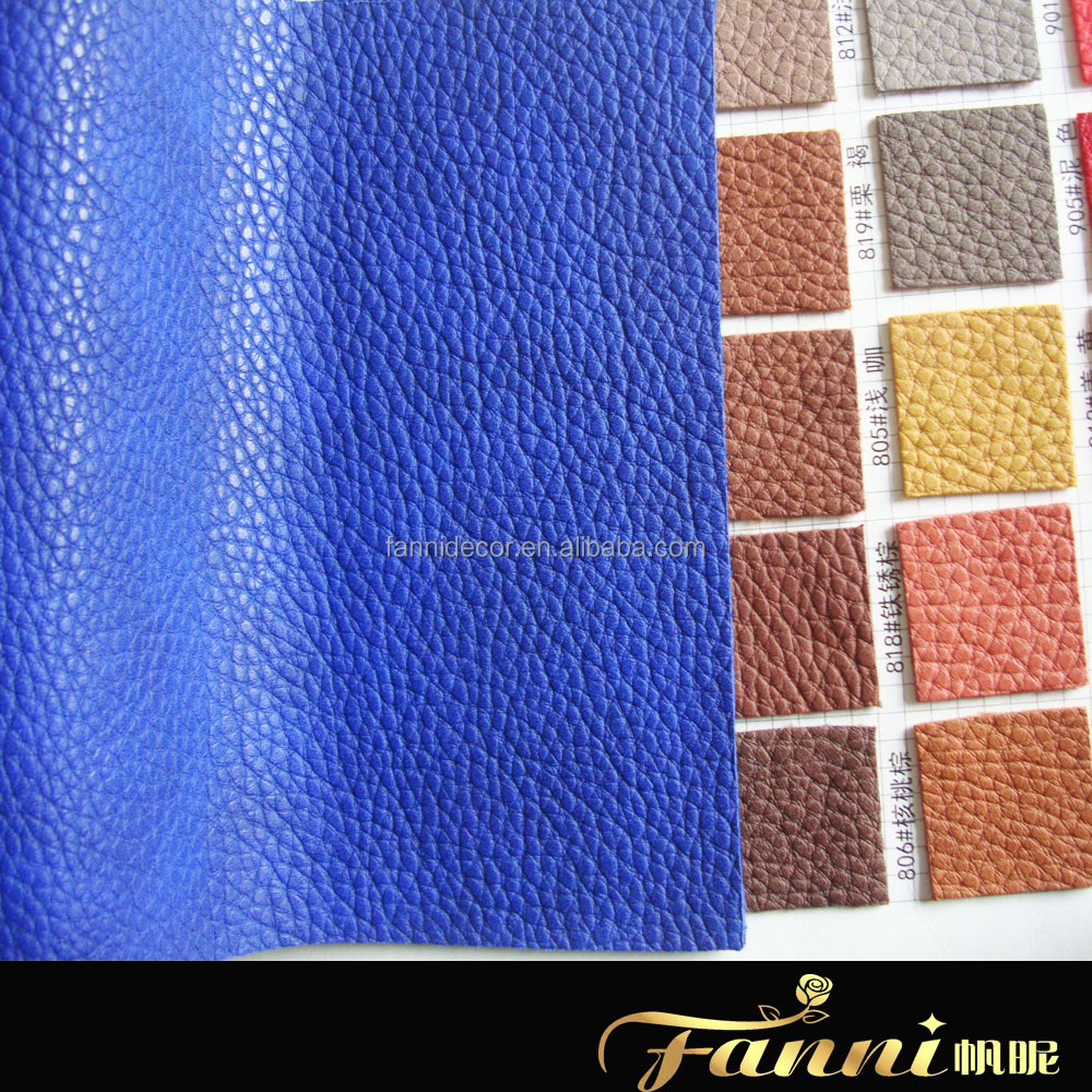 HOT SELL BEST SYNTHETIC PU LEATHER/soft hand feeling pu synthetic leather/PU Material lychee pattern pu leather