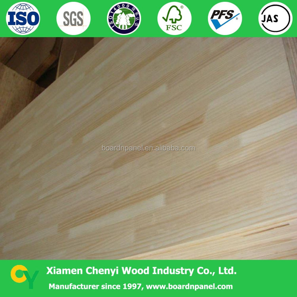 pine finger jointed laminated timber board/panel/wood