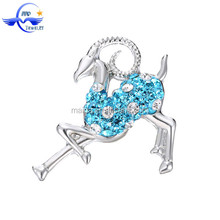 Mix Order Wholesale Color Crystal Antelope Shaped Unique Snap Button Clasps Jewelry Findings