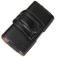 Handmade belt clip leather case for iphone 4
