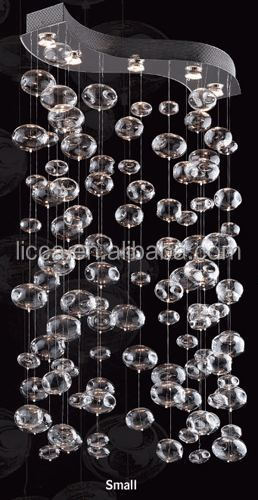 Elegant S shape glass bubble chandelier