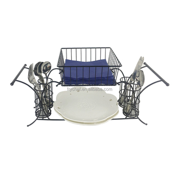 Buffet Caddy Set Buffet Untensil Caddy Dinnerware organizer Metal 2-tier Stackable buffet caddy display rack-2pcs as one set