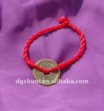 Chinese Coin Red String Bracelet