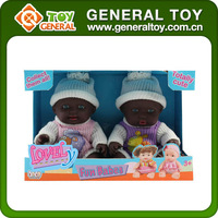 "8.5"" Mini Black Silicone Reborn Baby Dolls With Fragrance"