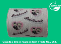 100*100mm,18gsm,2ply excellent quality lower price printed toilet paper, printed tissue paper, printed hand paper towel