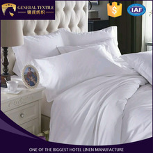Pure white sateen bed sheet wholesale hotel collection bedding sets