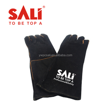 China Supplier Cow split safety leather gloves for Spark Resistance,industrial leather hand glove,leather working gloves