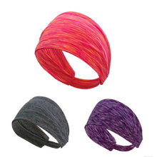 Cheap Absorption Polyester Outdoor sweatband Yoga Sport knit headband factory direct