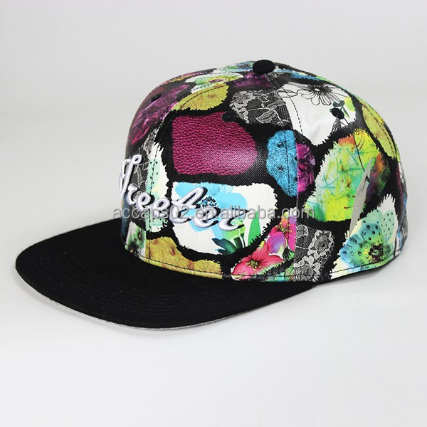 Leather patch pirate snapback hat