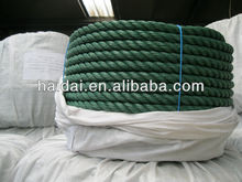 Green color polypropylene pp plastic recycled rope