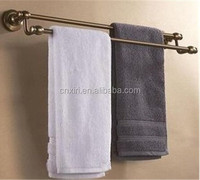 (A3008)Space aluminum archaize double pole towel rack
