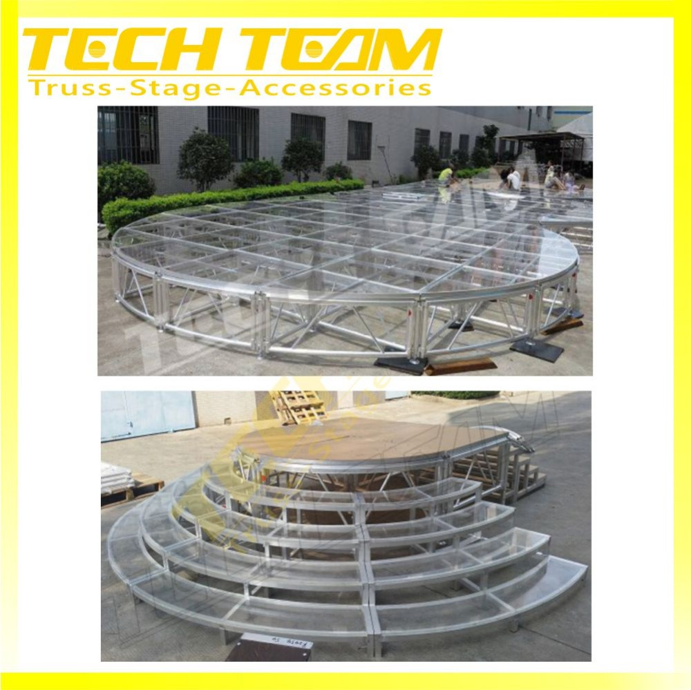 Inside Outdoor Top Quality Wedding Acrylic Stage With Collapsable Risers