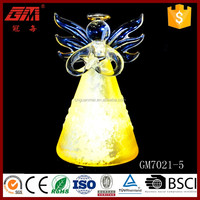 Factory direct sell elegant glass angel decoration for table