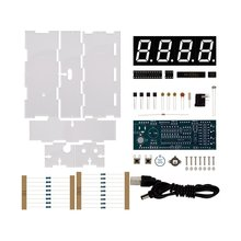 DIY Kit Red LED Electronic Microcontroller Digital Clock Time Thermometer