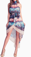 EY1001D Sexy summer fashion backless beach indian block print dress