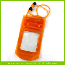 Factory Custom Button Closure PVC Plastic Mobile Waterproof Pouch