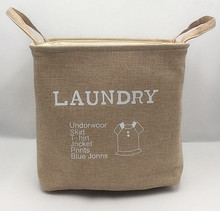 Customized high quanlity folding fabric laundry basket with handles