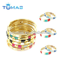 Colorful enamel bangle bracelet
