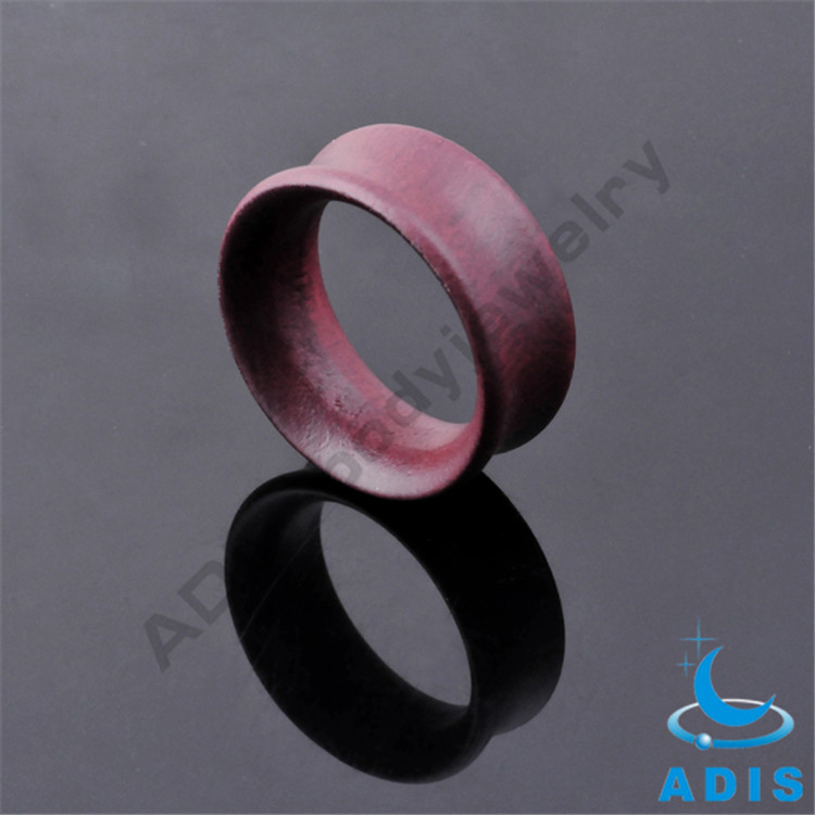 Fashion wholesale double flare hollow wood plug tunnel