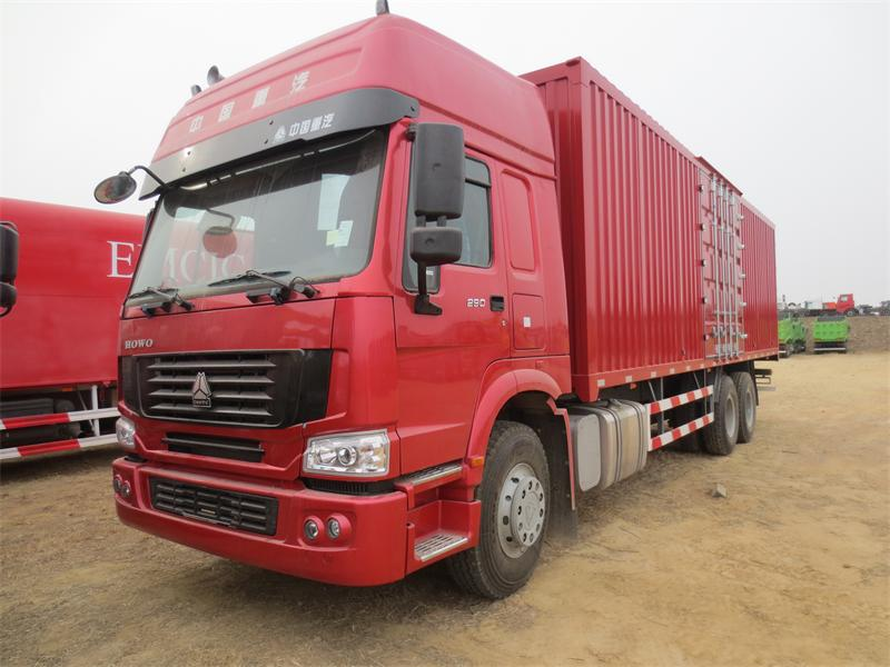 Good Engine !China SINOTRUK 6x4 Van Cargo Truck For Export