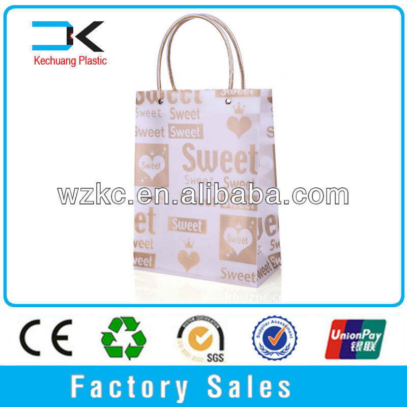 Recyclable !! Decoration cartoon PP shopping clear plastic bag