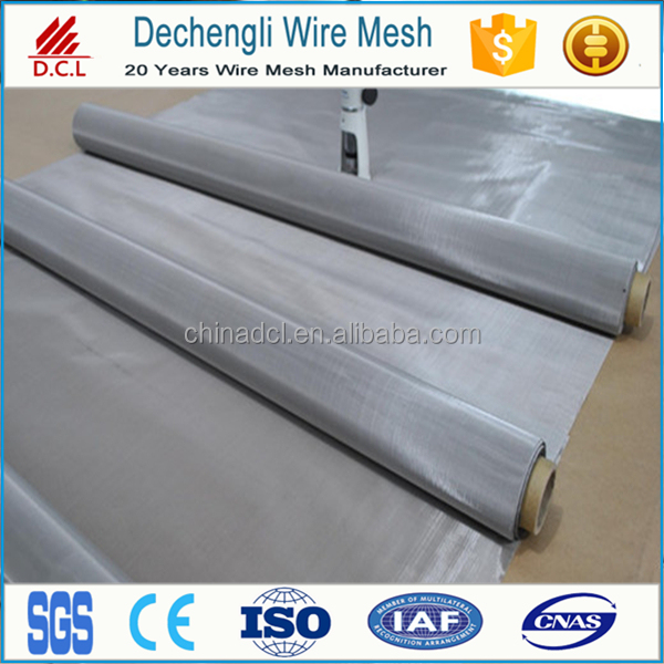 0.06mm 316L Stainless Steel Plain Weave Wire Mesh 200 x 200