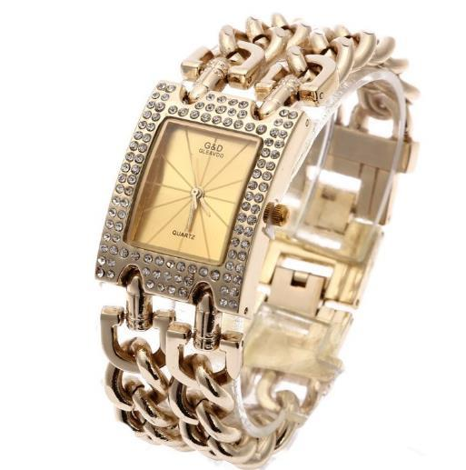 G&D Women Wristwatches Quartz Watch Luxury Gold Watch Relogio Feminino Saat Dress Watch Relojes Mujer Ladies Gifts Casual Jelly