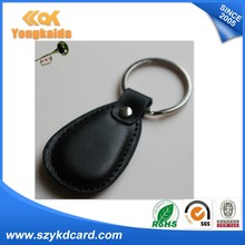 125khz RFID leather keyfob for management system