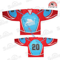 custom made blank cheap sublimated ice hockey jerseys