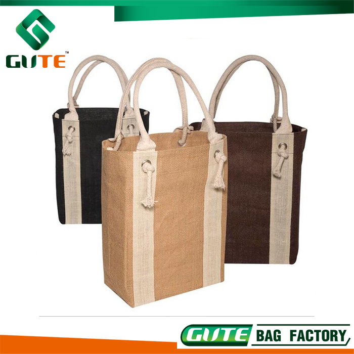 2017 NEW Wine Tote Eco-friendly Bottle Jute Bag Fabric Wine Bag