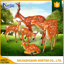 life size colorful resin deer statue outdoor NT--FS134J