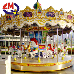 2017 french alibaba new design musical LED lights park attraction indoor small carousel ride