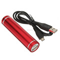 Hot Promotional 2600mAh Portable Cylinder mobile power bank for smartphone