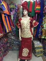 2016 new fashionable hot style Africa Bazin traditional rich women clothing hood coat long dress dress M2401