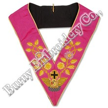 Masonic Fraternal Regalia Embroidered Hands Made Collars