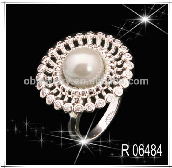 Fashion 2015 925 sterling silver Crystal Pearls Jewelry Sets for Women