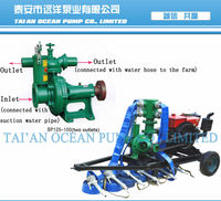 BP portable diesel water pump system for spray irrigation