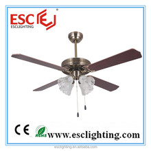 Home Use Decorative Wooden Rotating Ceiling Fan With Bulb Light