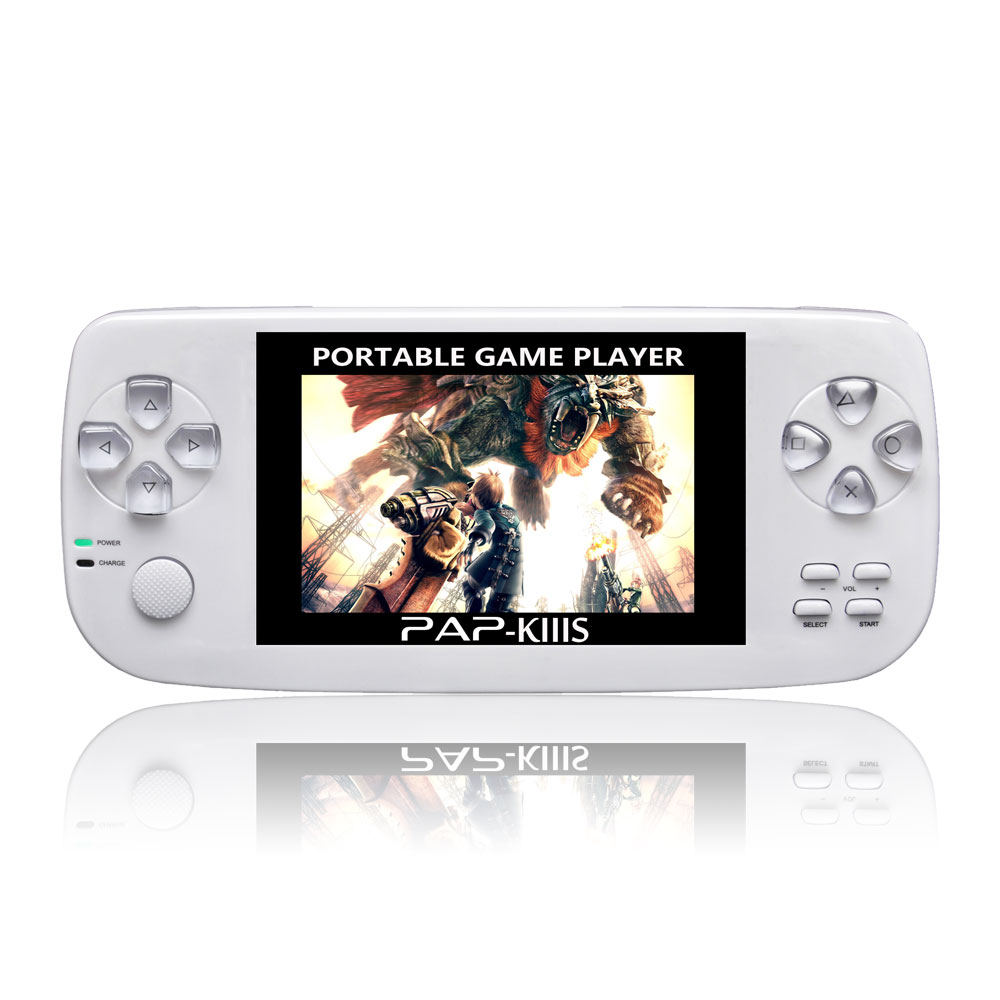Portable 4GB 3.5'' Video Game Console built-in 600 Games Player for PAP-KIIIS