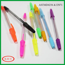 Promotional colored ink gel ink pen