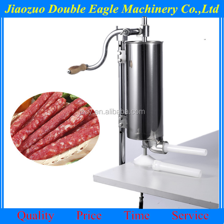 Commercial hand vertical pork chicken sausage machine/economic sausage processing machine