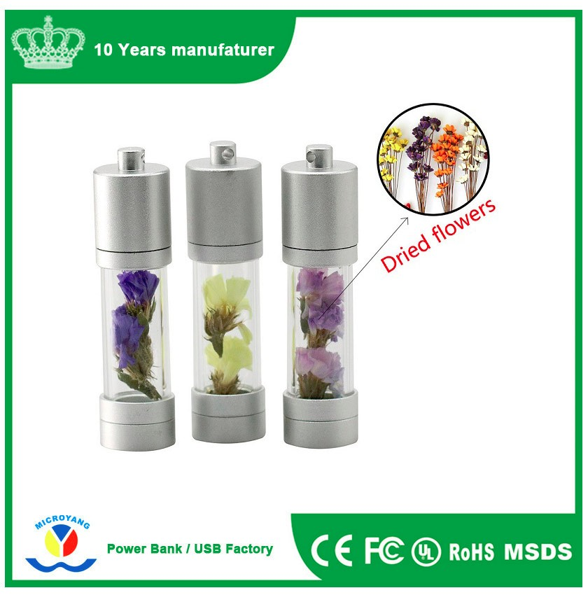promotional gifts metal pen drive specs flower 4GB 8GB 16GB 32GB 64G usb flash drive crystal cylindrical