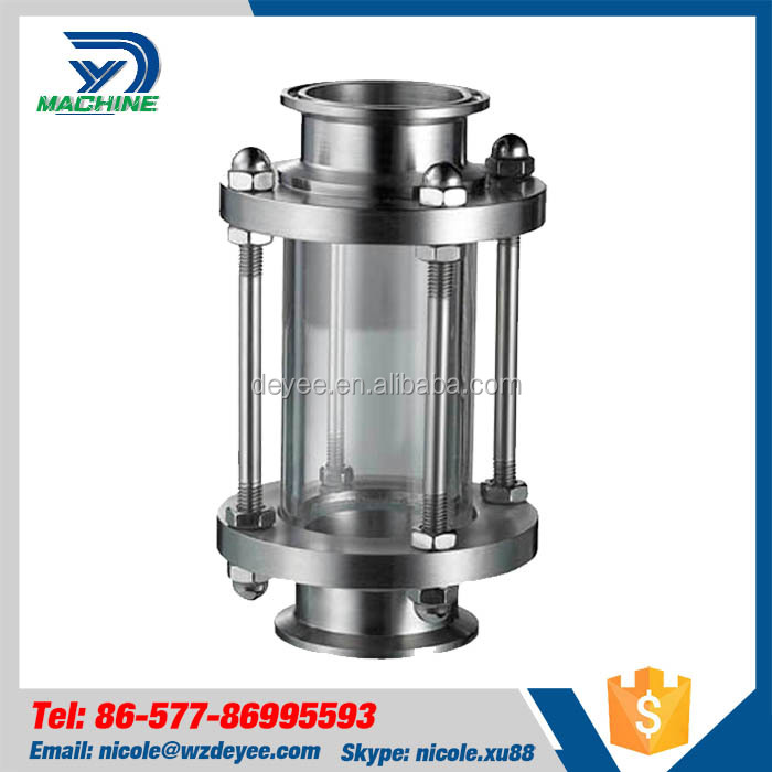 Stainless Steel Sanitary Clamped Straight Sight Glass for Tank