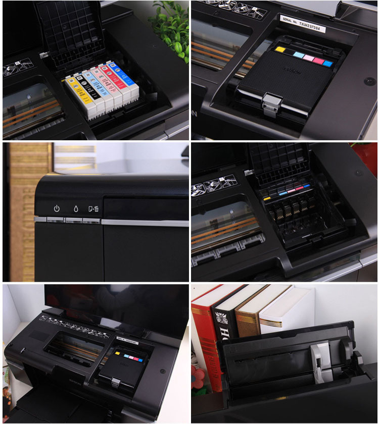Printing Machine Tshirt / DVD / PVC ID Card 6 Colors A4 Inkjet Printer T50 for Sublimation & Photo Printing