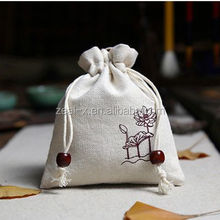 "Cotton Linen Drawstring bag 10x15cm(4""x6"") personalized logo Necklace Bracelet Jewelry Gift Pouches"