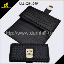 Black color RFID Blocking PU Lady Wallet PU purse, rfid leather wallet